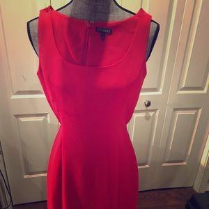 Red sheath dress - cut to kill!
